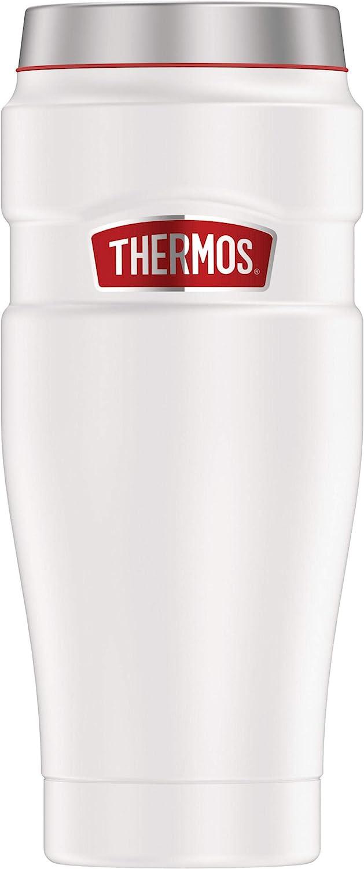 Thermos Stainless King 16 oz. Travel Tumbler, White/Red