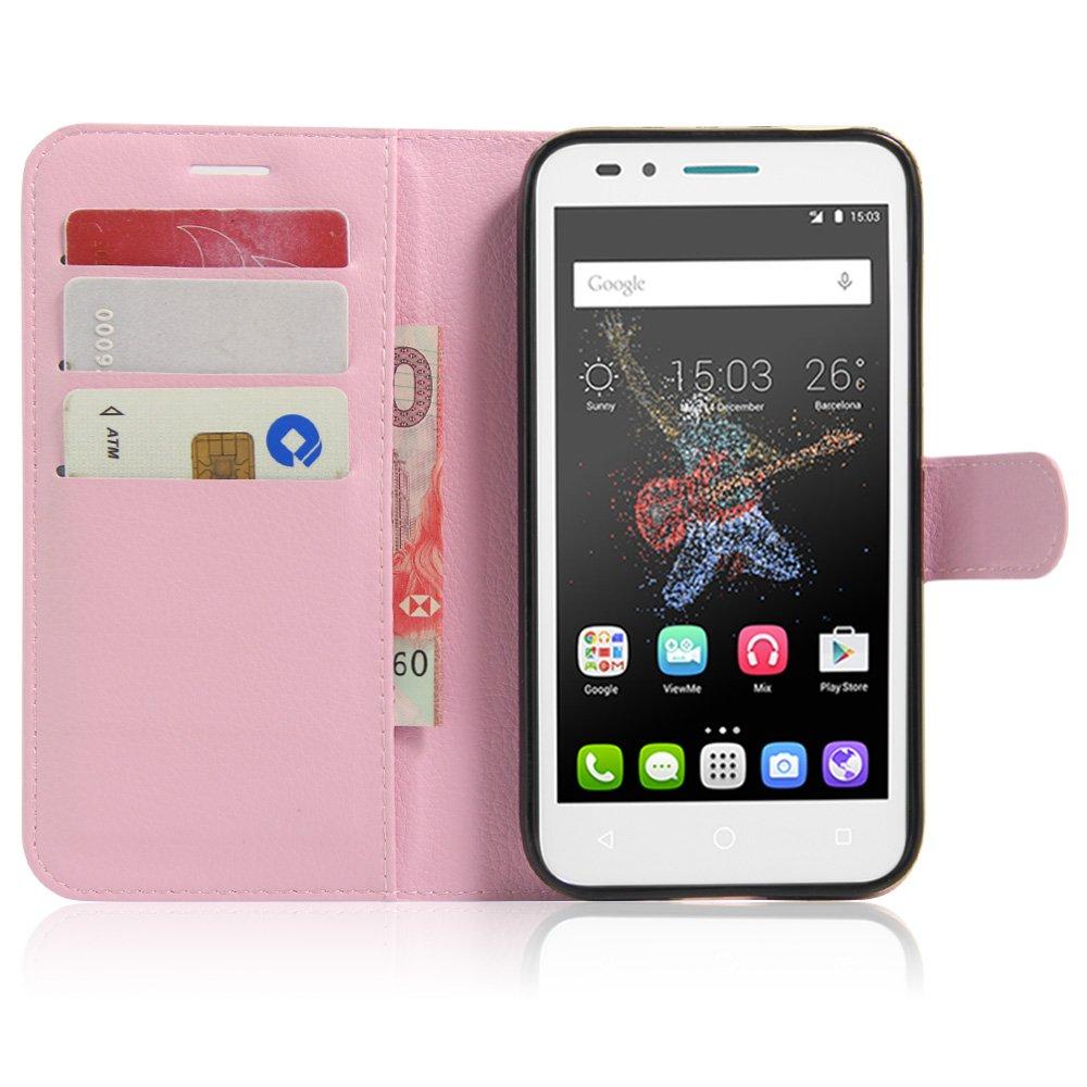 Guran® Funda de Cuero Para Alcatel OneTouch Go Play Smartphone ...