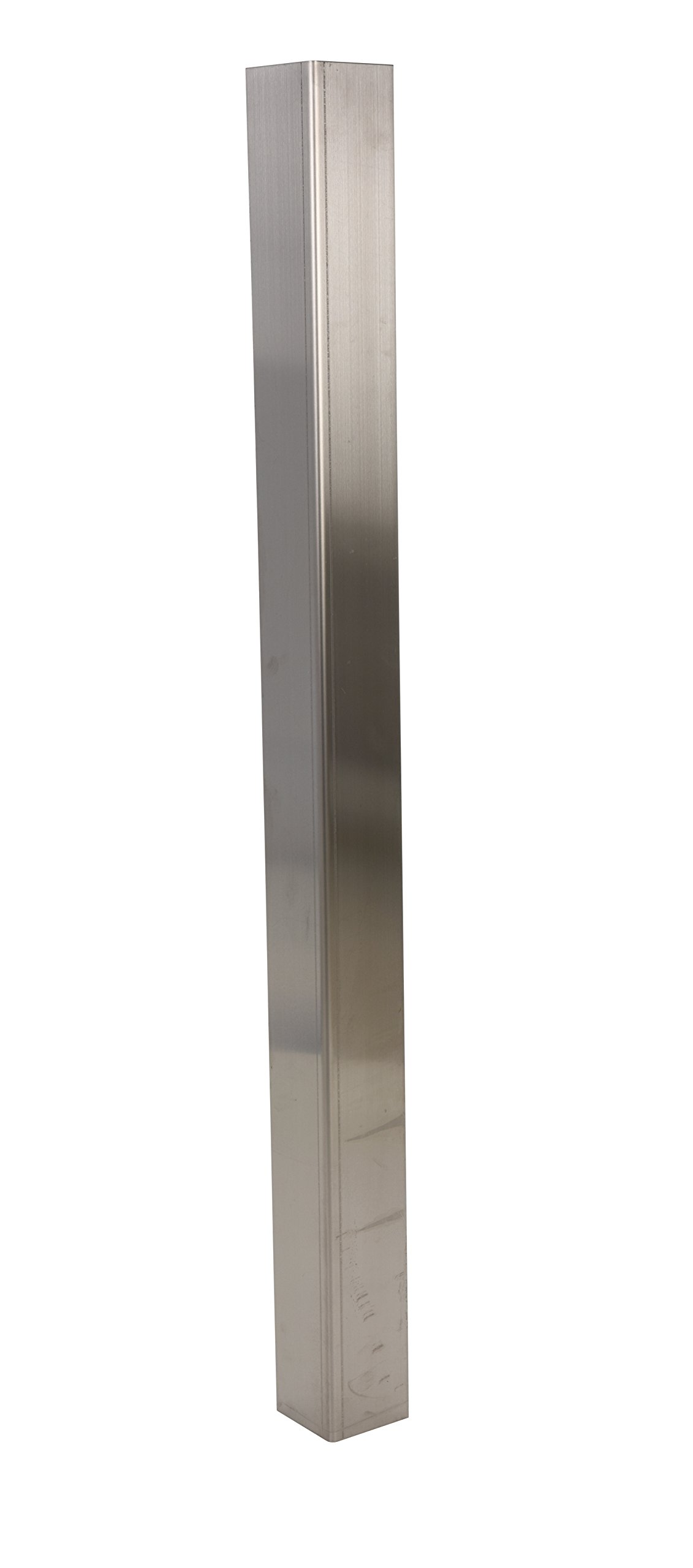 Vestil SS-48 304 Stainless Steel Square Angle Corner Guard, 48'' Height x 1/16'' Thick