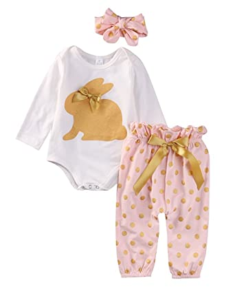 2568103a6 Amazon.com: ABEE Newborn Girls Clothes Baby Romper Outfit Pants Set Long  Sleeve Winter Clothing: Clothing