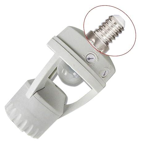 E27/E14/B22 - Soporte para bombilla LED PIR con sensor de movimiento por