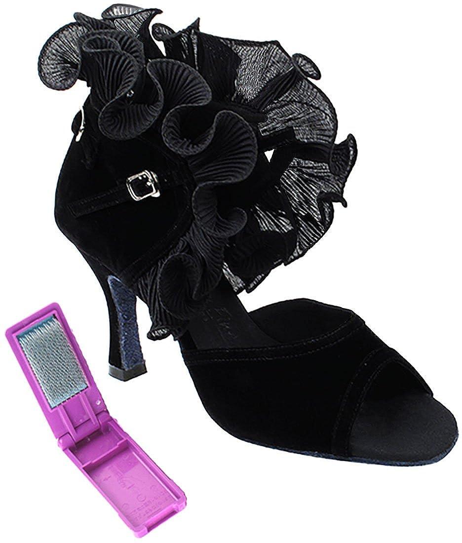 [Very Fine Dance Shoes] レディース B073Q9VKNX ブラックベルベット 8.5 B(M) US