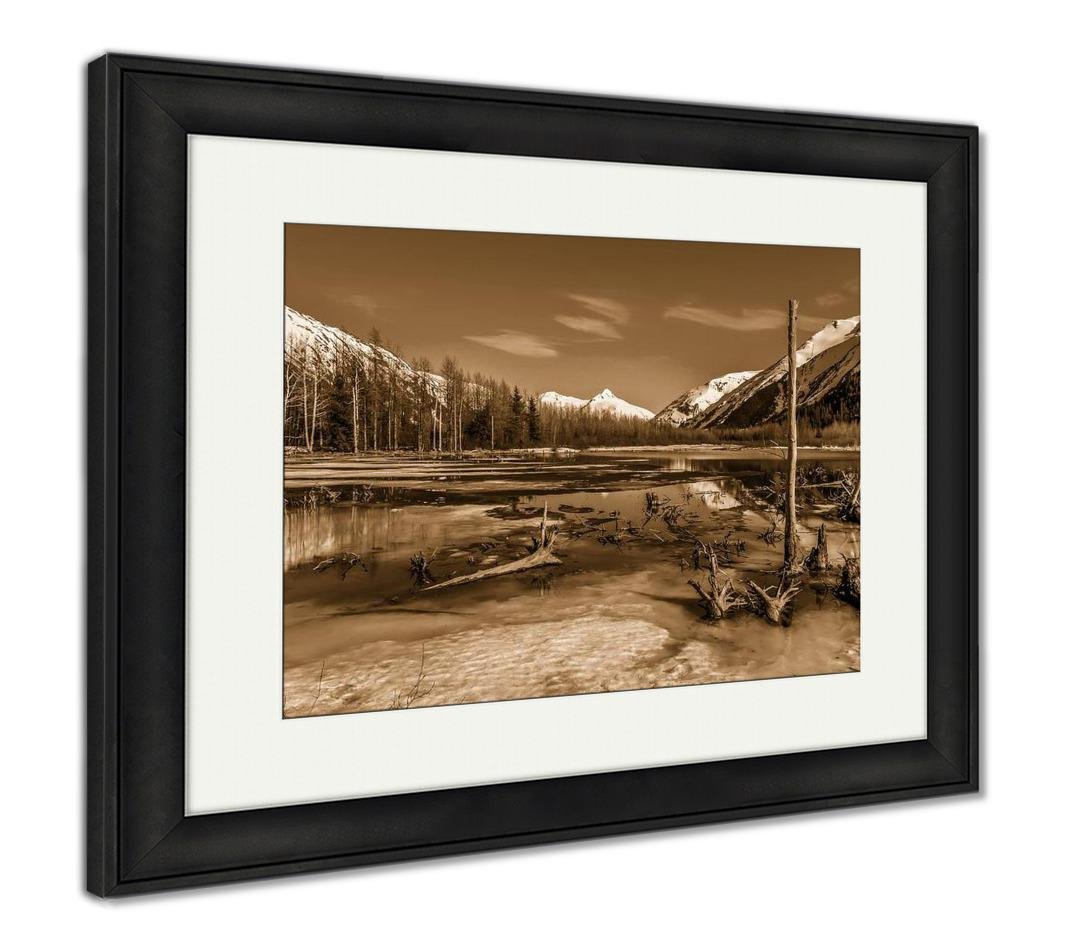 AshleyフレームプリントA美しいAlaskan Landscape水の氷と山、壁アートホーム装飾、ag6310960 34
