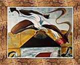 US Art Bronze 1.5 inch Framed with Leap Of Faith Artist Unknown 11x14 African American Black Art Print Wall Decor Poster