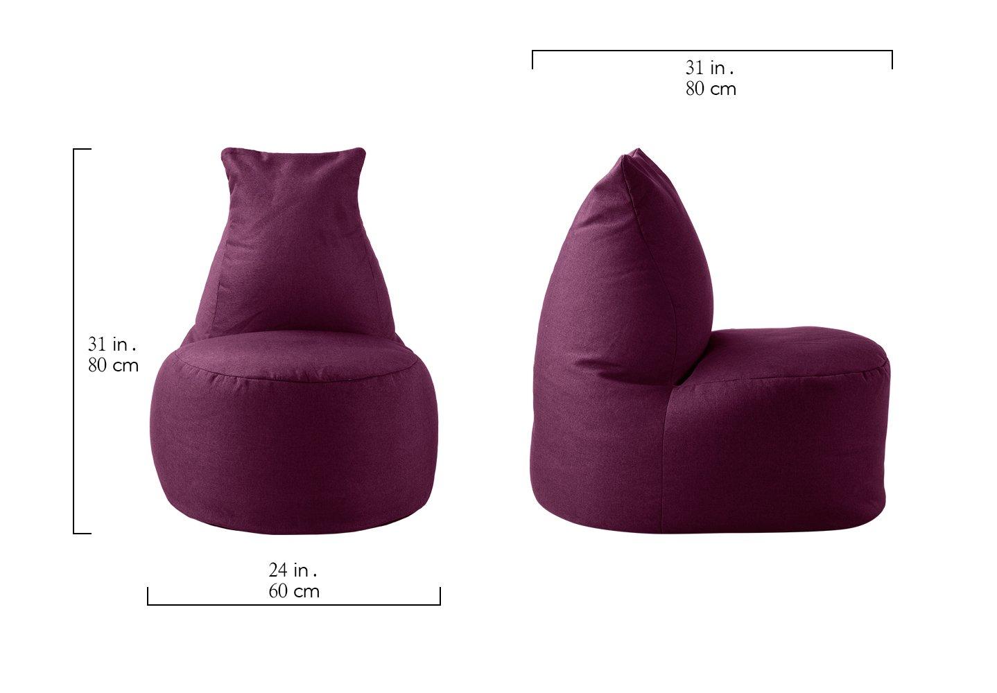 Amazon.com: Grande tela de lino sala de estar puf para ...