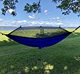 FORGET THE TENT   Ideal as a tent replacement, this Mosquito Net Camping Hammock is lightweight, compact and can be taken anywhere.   COMPACT WHILE SPACIOUS   When folded into it's attached stuff-sack, you won't even know it's in your backpack! It's ...