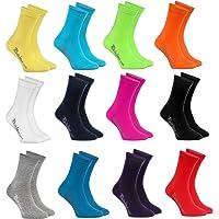 Rainbow Socks - Niños y Niñas - Calcetines de Algodón - 12 Pares - Multicolor - Talla