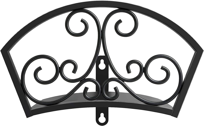 GOFORWILD Garden Hose Holder, Decorative Star Hose Butler Sturdy Water Hose Rack, Durable Wall Hose Hanger, Holds 125-Feet of 5/8-Inch Hose, Hose Reel, Made of Gauge Steel, 7019