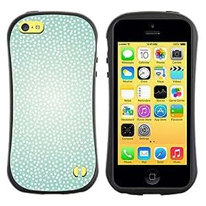 """Hypernova Slim Fit Dual Barniz Protector Caso Case Funda Para Apple iPhone 5C [Blanco Trullo puntos brillantes de Sun del verano caliente""""]"""