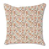 Autumnal Star Bingo 18X18 Burlap Pillow 2-Sided Custom Printed
