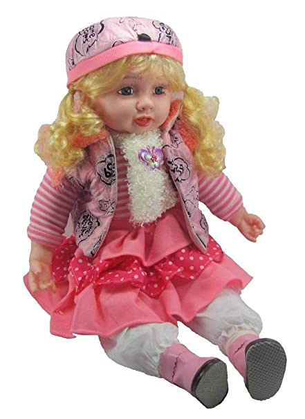 5c70d0d27 Vishal Smart Mall Good Looking Girl Baby Doll Singing Songs (40 cm   Multicolour)