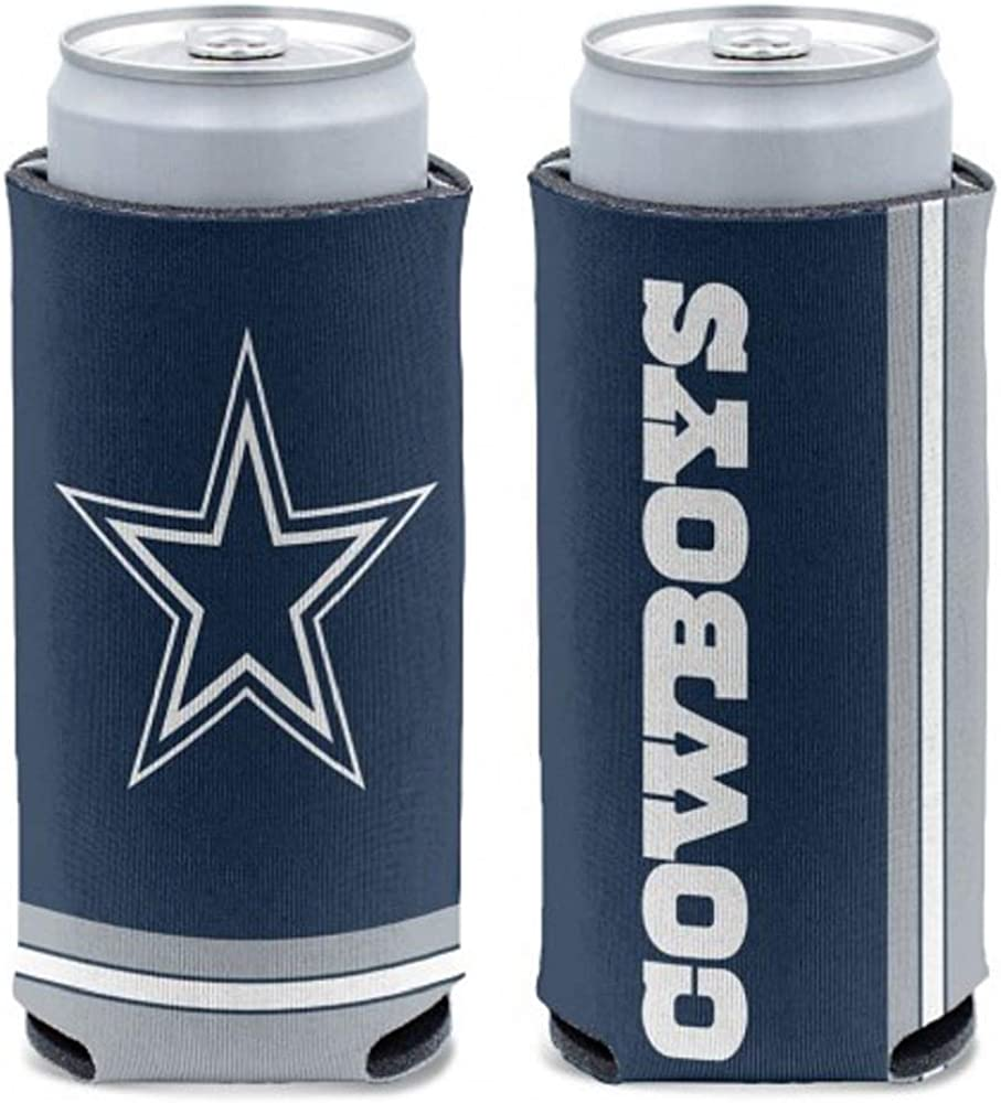WinCraft NFL Dallas Cowboys Slim Can Cooler, Team Colors, One Size