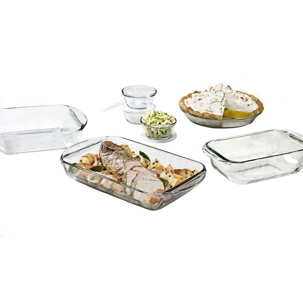 Anchor Hocking Fire King 10 Piece Glass Bakeware Set