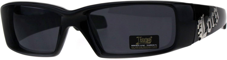 Locs Rectangular Gangster Black Shades Men Designer Sunglasses Cholo Dark Lens