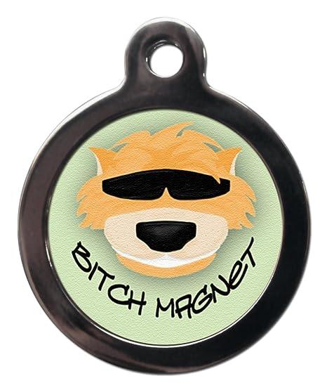 Personalizado perra imán perro perro etiqueta: Amazon.es ...