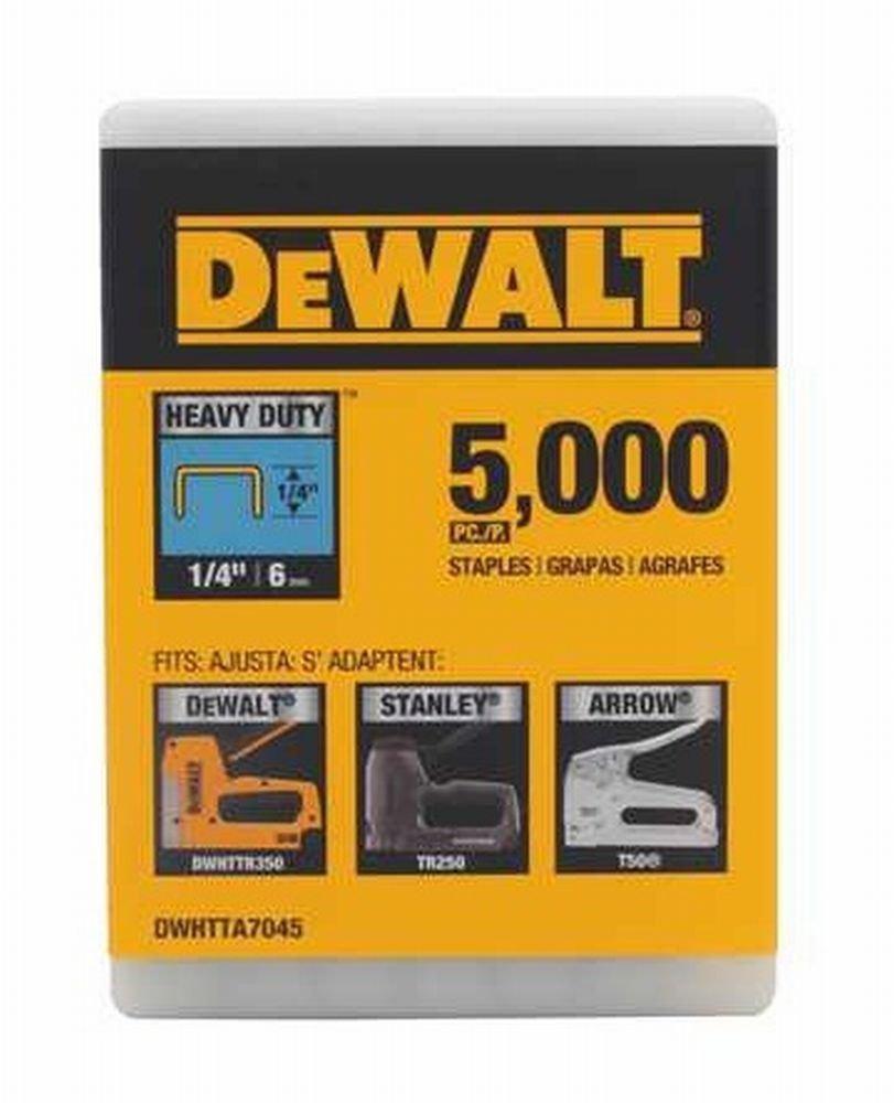 Stanley Tools DWHTTA7045 1/4in. Heavy Duty Staple 5,000/Box