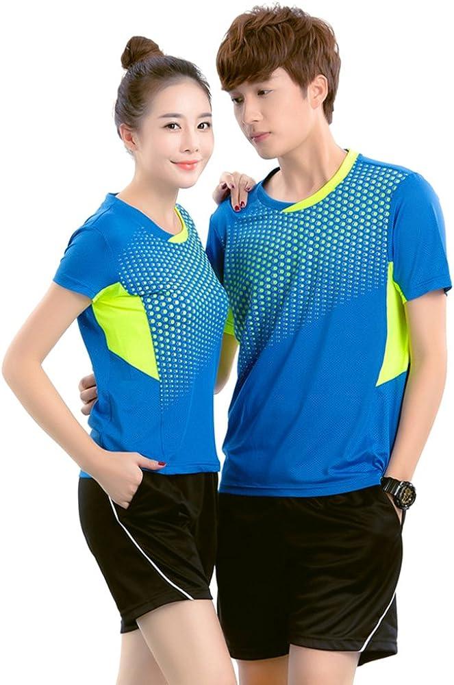 BOZEVON Quick Dry Sports Tee Tops Badminton Clothes 2 PCS