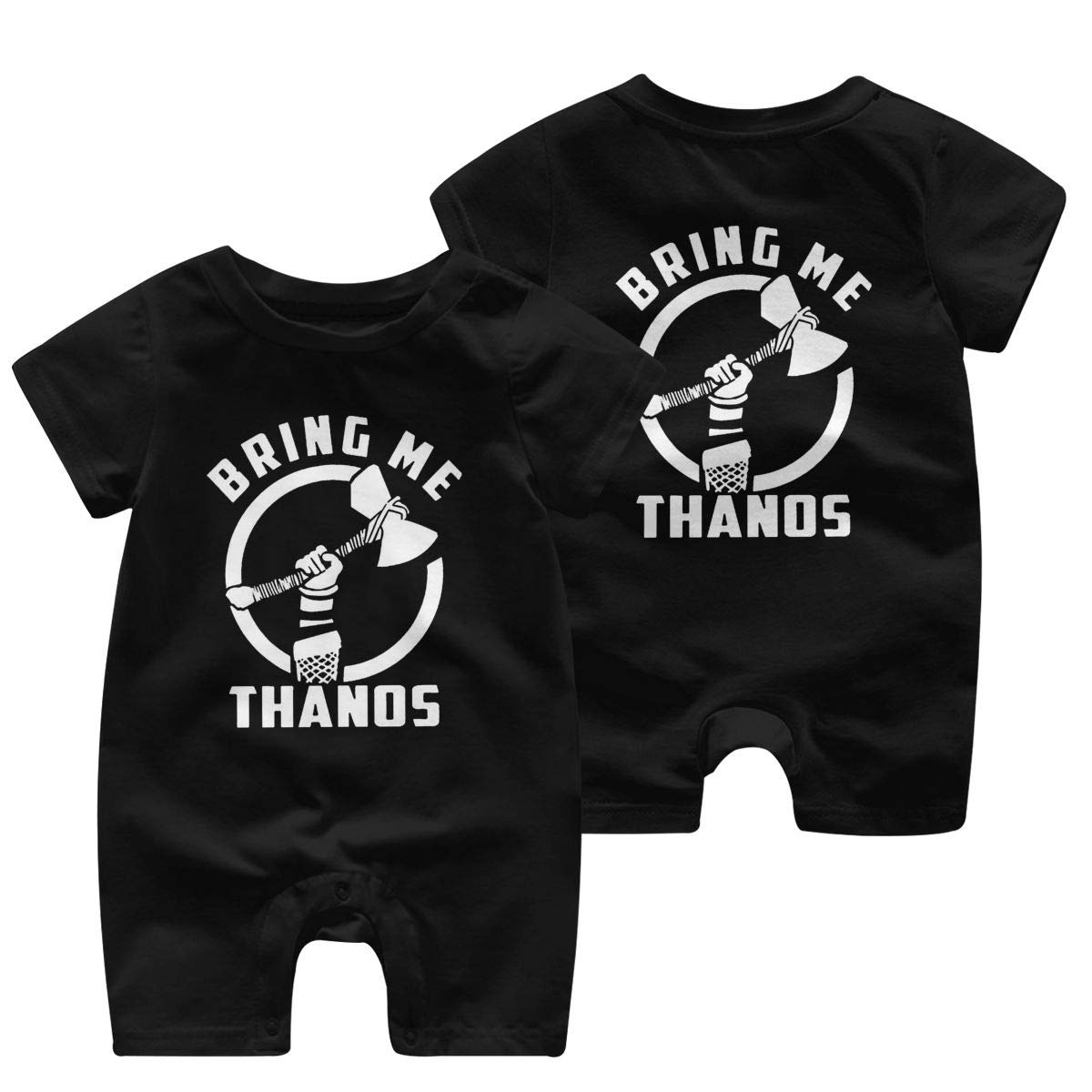 Baby Boys Girls Romper Jumpsuit Bring Me Thanos Newborn Short Sleeve Bodysuits Infant Outfit Funny Onesie for 0-2T