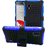 JKase DIABLO Series Tough Rugged Dual Layer Protection Case Cover with Build in Stand for LG Optimus G LS970 (SPRINT Only, Will NOT Fits AT&T Version) - Retail Packaging - Blue