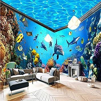 Lqwx Toda La Casa De Acuario Telón Mural 3D Wallpaper Decoracion Foto Papel Tapiz De Fondo Salón 400Cmx280Cm: Amazon.es: Bricolaje y herramientas