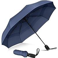 Repel Umbrella - Paraguas de viaje resistente al viento con revestimiento de teflón (azul marino)