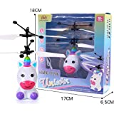 Idomeo Children Flying Robot Mini Infrared Sensing Lighting Flying Toy USB Charging Toy Electronic Pets Drone