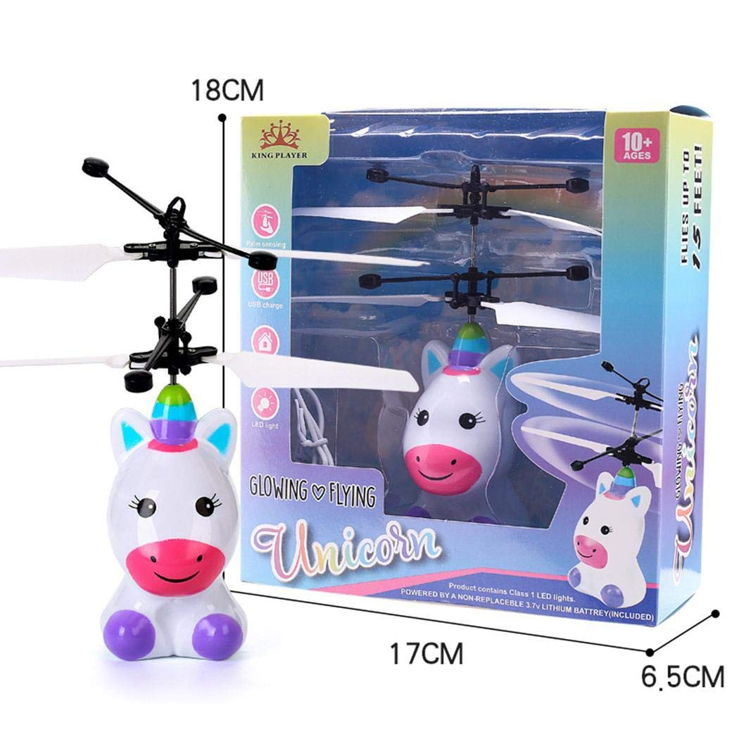 Ladiy Children Mini Infrared Sensing Lighting Flying Toy USB Charging Toy Electronic Toys