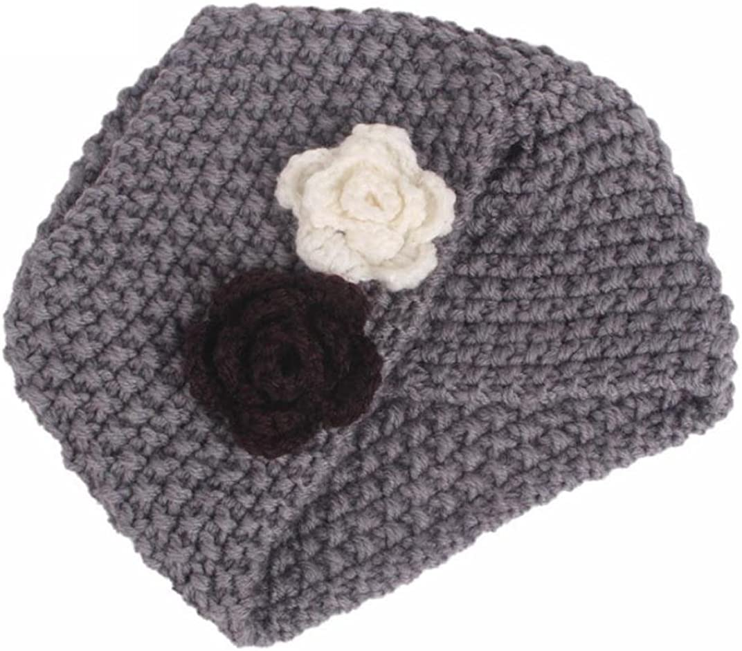 DIGOOD Girls Knitting Beanie Turban Head Wrap Pile Cap Cute Hats