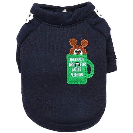 BAONUAN Vestiti Ropa para Mascotas Ropa para Mascotas Ropa De Gato De Peluche Ropa para Cachorros