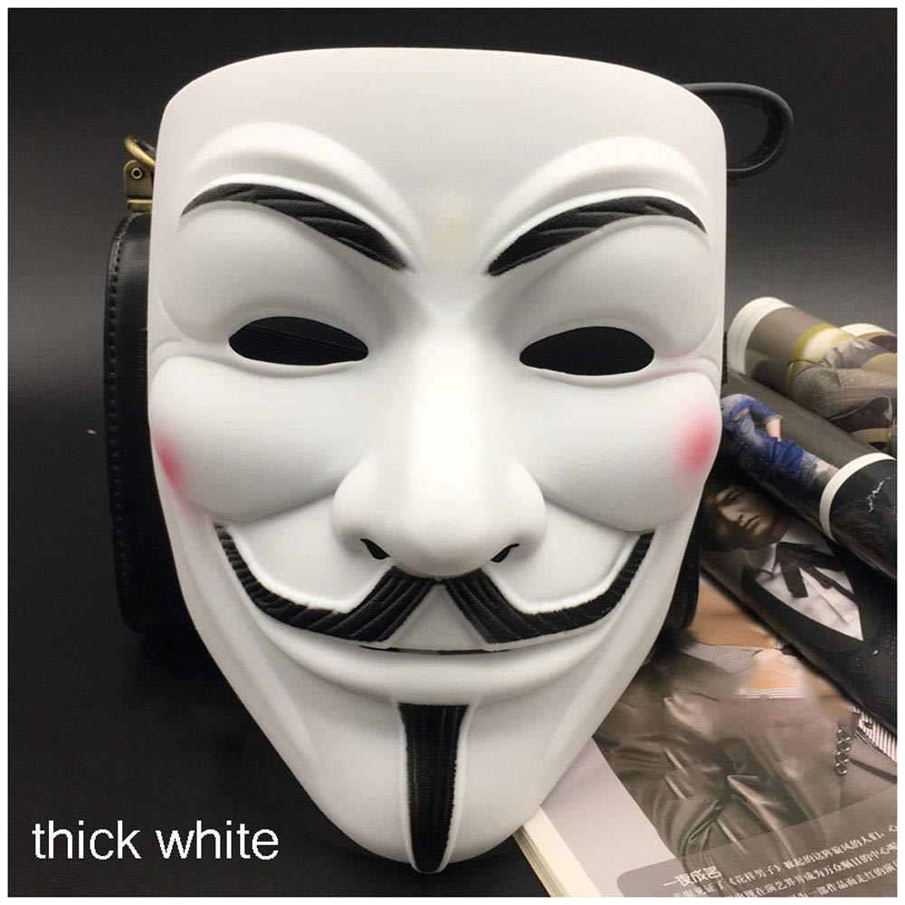 Máscara V Palabra Vendetta Adulto Mascarilla Masculina Halloween Mascarada V (Color : Thick White) : Amazon.es: Juguetes y juegos