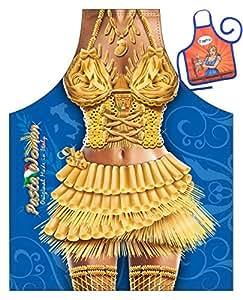 Pasta Woman–Fun Diseño Delantal–con un pequeño mini de delantal como Präsent