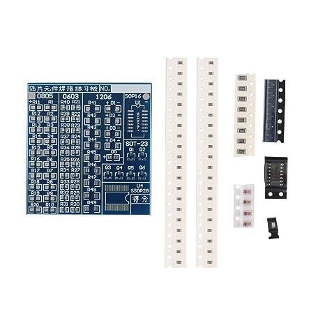 Azul Duradero 5V SMT SMD de componentes Soldadura Soldadura Junta Práctica Práctica DIY Kit Mejor US57
