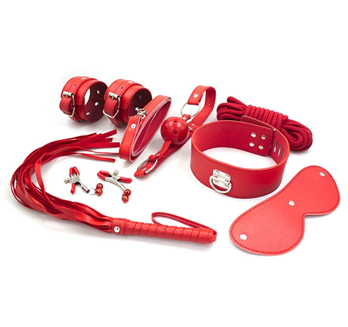 mywaxberry Faux Leather BDSM Seven-Piece Set Couple Toys