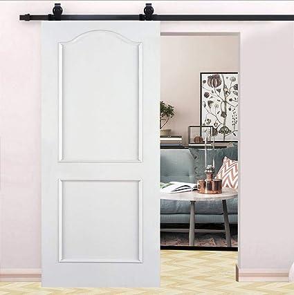 Binario per Porta Scorrevole, Porta Scorrevole di Placcatura kit accessori  per la porta della casa Massimo Carico 120kg nero 78,7 pollici ...