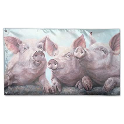 amazon com bdna pigs painting garden flag 59 x 35 inches yard