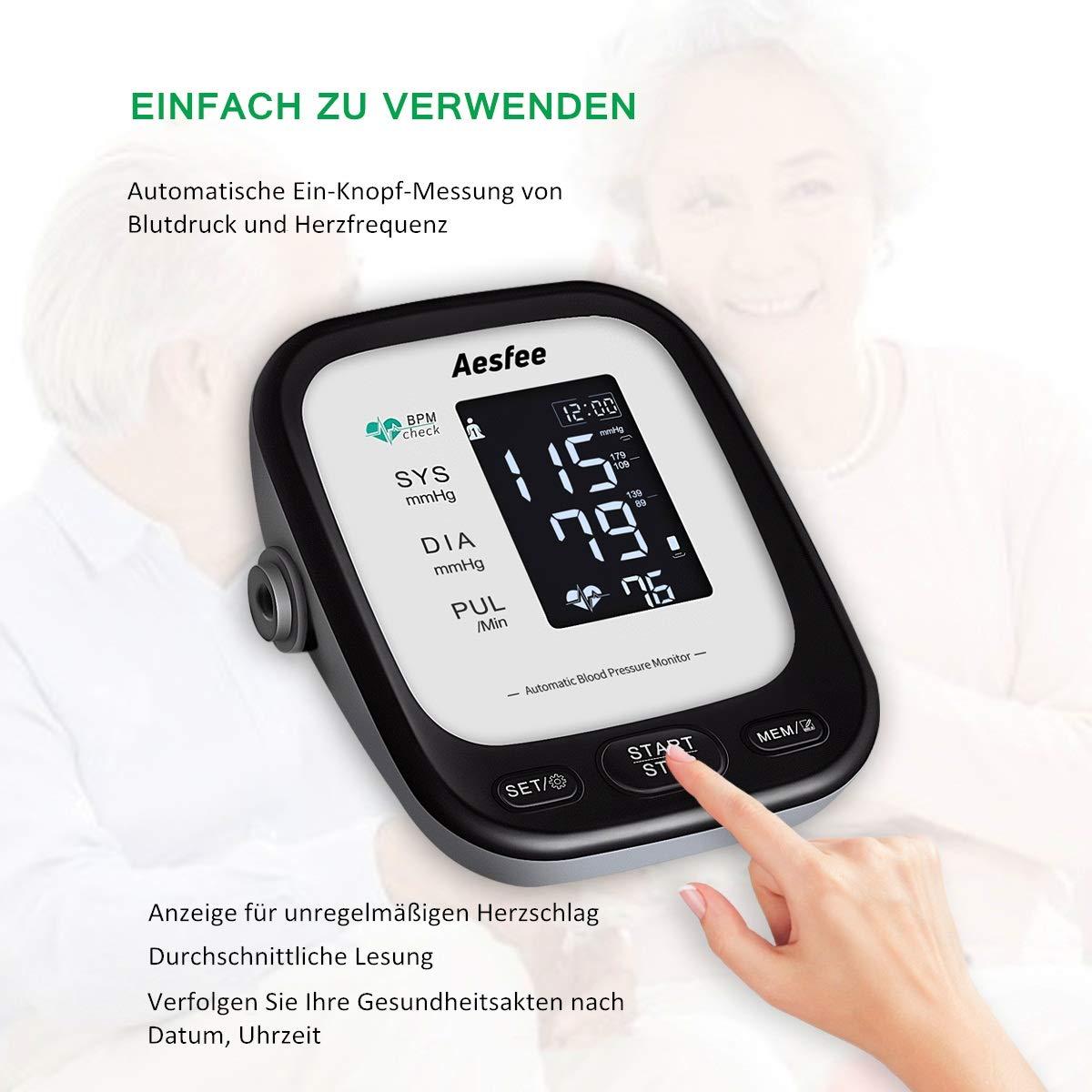 Tensiómetro de brazo con USB recargable, medidor de presión ...