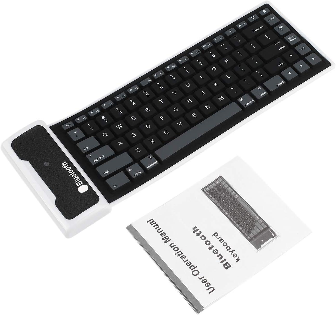 Nuevo teclado de silicona flexible inalámbrico Bluetooth Mini ...