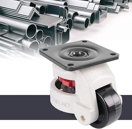 ruedas giratorias de nivelaci/ón de ruedas industriales de alta resistencia GD-60F para movimiento de m/áquinas grandes Rueda giratoria de ajuste de nivel de 4 piezas
