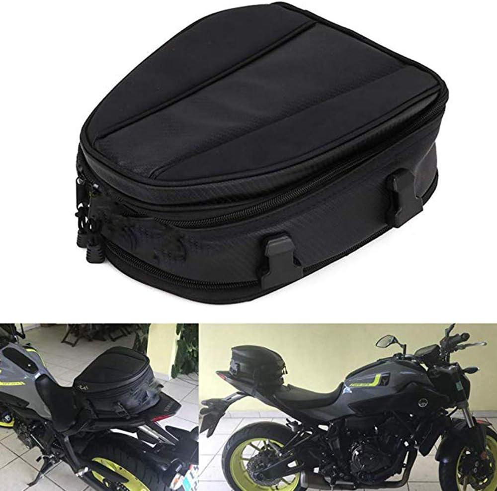 Motorcycle Seat Rear Bag Luggage Tank Saddle Riding Storage Helmet Tail Back