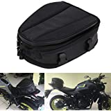 Motorcycle Tail Bag Waterproof Luggage Bag Seat Bag Motorbike Saddle Bags Multifunctional PU Leather Bike Bag Sport Backpack,15 Liters