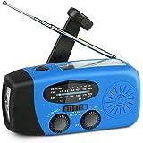 Portable Emergency Weather Radio - Hand Crank, Self Powered, AM/FM/NOAA Solar Radio