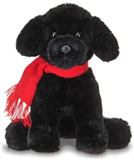 Amazon Com Melissa Doug Benson Black Lab Stuffed Animal Puppy