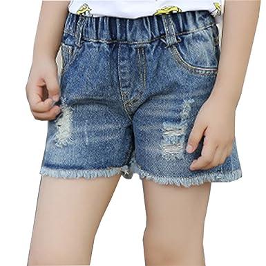 Niñas Pantalones Cortos Vaqueros Jeans Denim Shorts ...