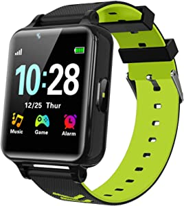 WILLOWWIND Kids Smart Watch for Boys Girls - Children's Smartwatch with 14 Games Music Mp3 Player 2 Way Phone Calls Alarms Calculator for Students 4-12 Years Old Birthday Gift (Black)