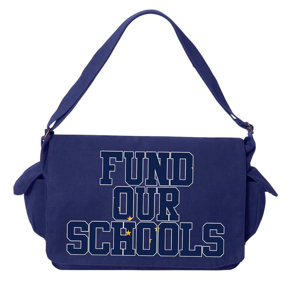 Tenacitee Fund our Alaska Schools Red Brushed Canvas Messenger Bag