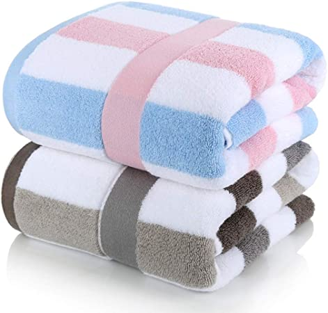 DWW 2 Toallas de baño cargadas algodón Adulto, Hombres y Mujeres ...