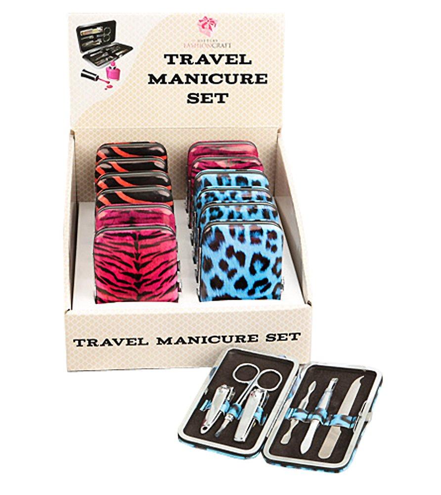 Safari-inspired animal print manicure set, 72