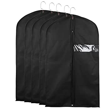 8d63d4ade6ba Amazon.com: uxcell Garment Bags for Storage or Travel 40inches Black ...
