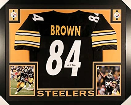Image Unavailable. Image not available for. Color  Antonio Brown Signed  Steelers 35x43 Custom Framed Jersey (JSA COA) 2e30a23aa