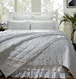 Be-you-tiful Home 3 Piece Asher Quilt Set, Queen, White